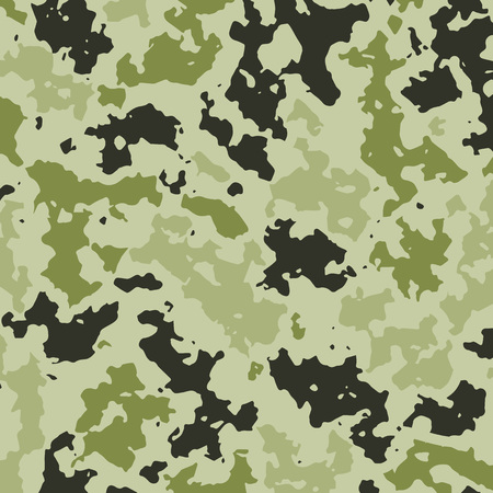 Vector Illustration. Camouflage background for military clothes. Template card green hunting