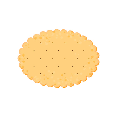 Vector Illustration. Health cracker. Isolated cookie: ellipse. Icon