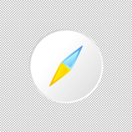 Isolated weather compass icon. Arrow element on transparent background. Vector Illustration. Diraction navigation