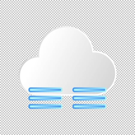 Isolated weather icon. Fog element on transparent background. Vector Illustration. Foggy and cloudy