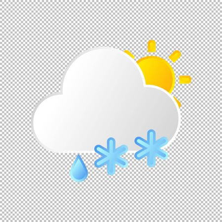 Isolated weather icon. Stormy element on transparent background. Vector Illustration. Sunshine