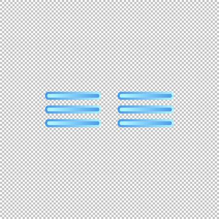 Isolated weather icon. Fog element on transparent background. Vector Illustration. Foggy Illustration