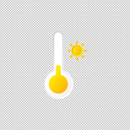 Isolated weather icon. Temperature element on transparent background. Vector Illustration. snowflake, sun