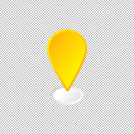 Isolated location icon. Diration element on transparent background. Vector Illustration. GPS navigation