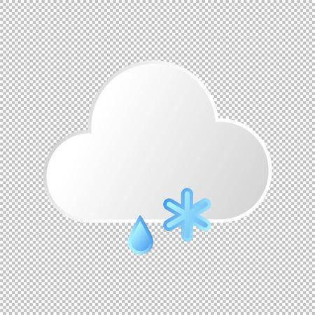 Isolated weather icon. Stormy, sleet element on transparent background. Vector Illustration. Rain