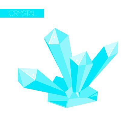 Isolated crystal, gem ice icon for magic cartoon concept. Ilustrace