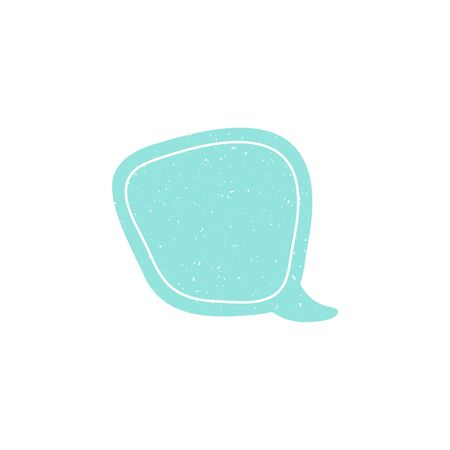 Speech talk bubble template. Isolated chat icon with texture. Hand drawn comic, retro speak cloud. Vector Illustration