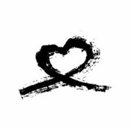 Isolated hand drawn heart. Love symbol painted by brush. Drawing sign. Vector Illustration