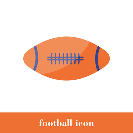 Isolated amirican football icon in flat style. Symbol of  vector illustration. Concept design. Silhouette ball. Modern minimal style