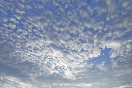 Scattered Clouds On Blue Sky Imagens