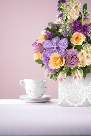 Purple Flower Arrangement photo