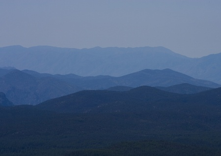 Blue Layered Mountains