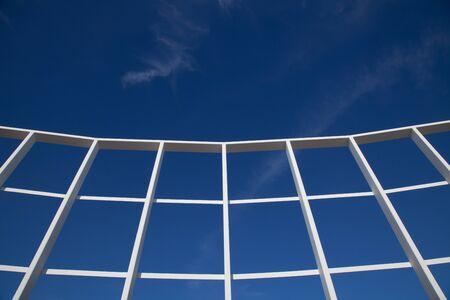 White Grid On Sky