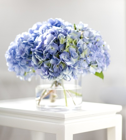 glass vase: Hydrangea Bouquet