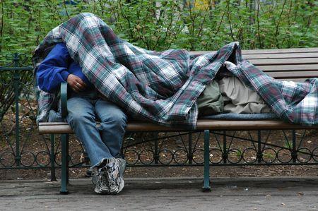 vagabundos: Sin hogar Foto de archivo