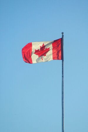 Maple leaf flag of canada.