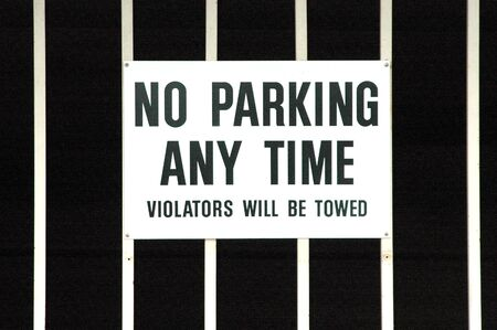 No parking any time. Stock Photo