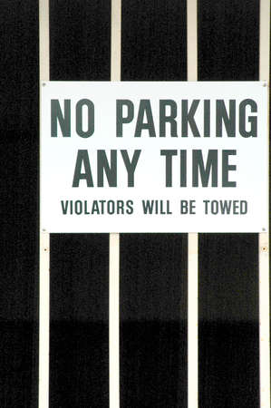 no parking: No parking any time. Stock Photo