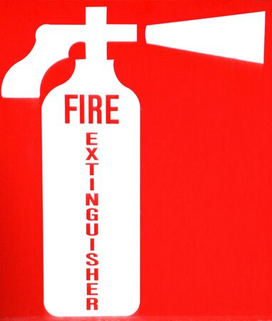 Fire extinguisher on display.