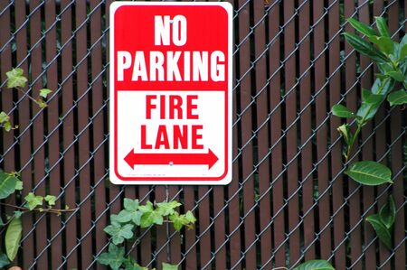 No parking fire lane sign. photo