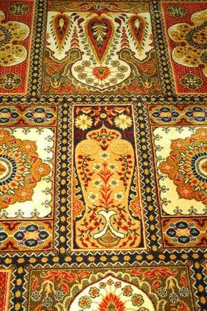oriental rug: Oriental carpet in a luxury home. Stock Photo