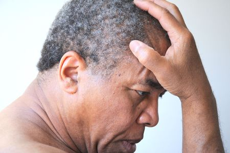 African american man feeling sad and rejected. Stock Photo