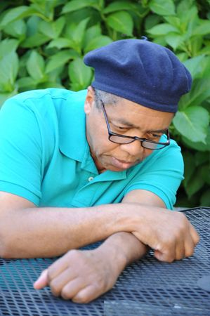 jobless: Jobless african american male. Stock Photo