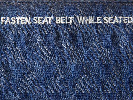 fasten: Fasten seat belt while seated symbol.