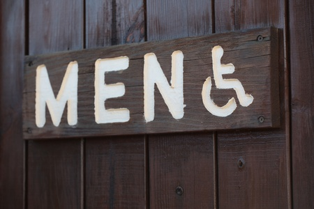Mens restroom sign in a public park photo