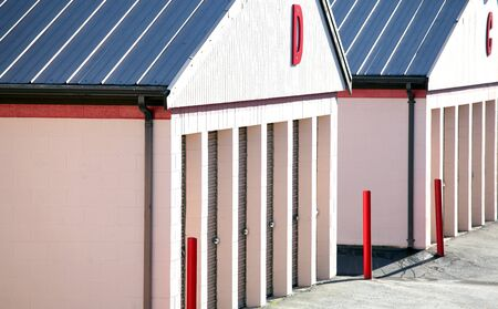 Public storage units for rent to the consumer.