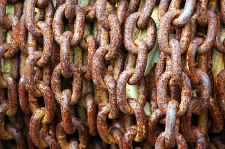 Slavery chains connected to the horror of slavery. Stock Photo - 9267802