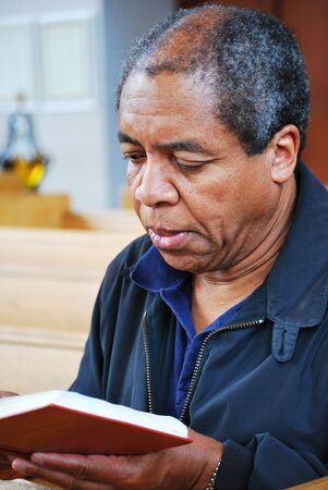 African american man in church. Stock Photo - 9468511