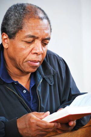 African american man in church. Stock Photo - 9468497