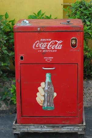 machine: Vintage coke machine in Grand Cayman Island 5122011