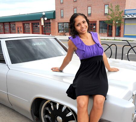 African american female beauty posing outside. Stock Photo - 12307938