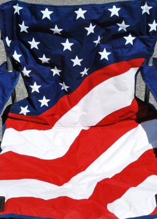 USA camping folding chair outside. Stock fotó