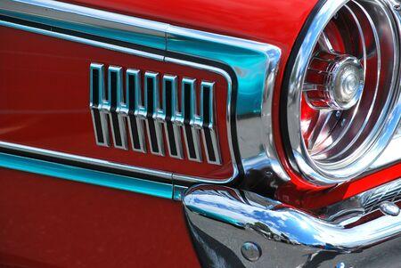 Classic vintage car displayed outdoors  Фото со стока