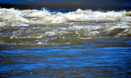 currents: Strong water currents in the ocean. Stock Photo