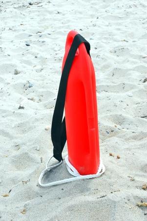 baywatch: Lifeguard float on the beach. Stock Photo