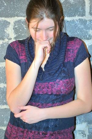 moods: Sexy female beauty posing indoors. Stock Photo