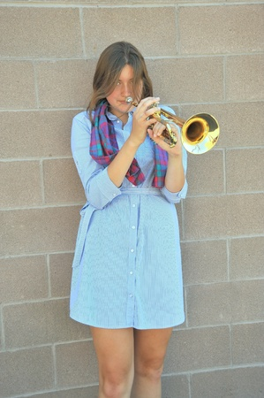 Female trumpet player