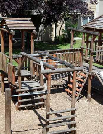 Playground equipment at a housing complex