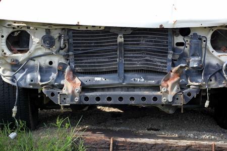 speeding: Car wreck caused by a speeding drunk driver.