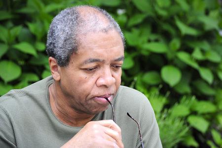 American expressions africains mâles extérieurs. Banque d'images - 54703302