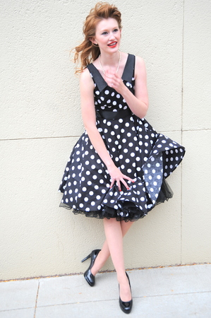 malfunction: Female beauty having a dress malfunction. Stock Photo