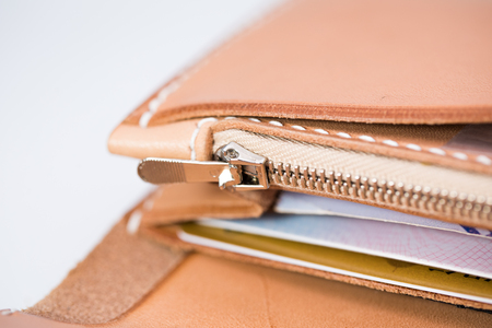 Metal zipper Stockfoto