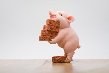 bricks moving Фото со стока