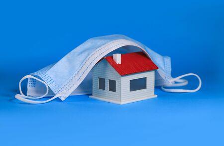 concept image of Antivirus mask influence property market