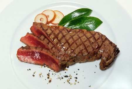 broiling: cut of grilled beef Stock Photo