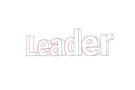 Leader Words with colored lines tilde and orange on white